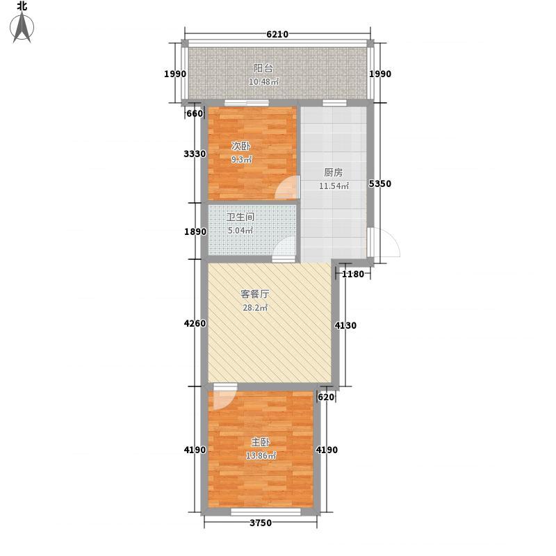 富江家园56.63㎡富江家园户型图2室1厅1卫1厨户型10室