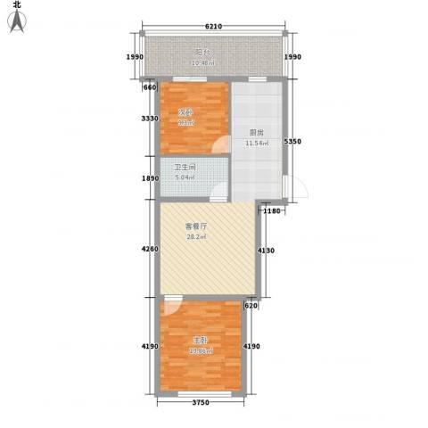 富江家园2室1厅1卫0厨66.89㎡户型图