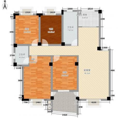 扬子佳竹苑4室0厅2卫1厨172.00㎡户型图