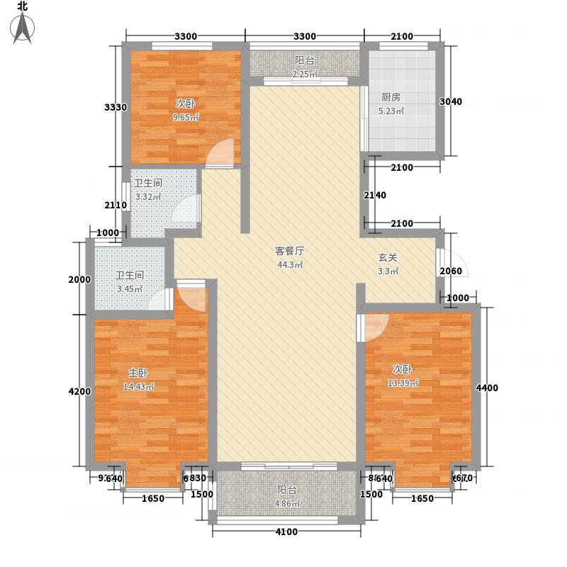 祥云福邸14.87㎡11#楼A户型3室2厅2卫1厨