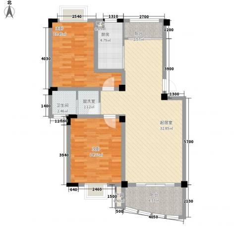 扬子佳竹苑2室0厅1卫1厨114.00㎡户型图