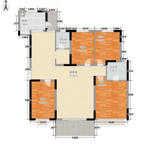 华景新城逸宁居4室0厅2卫1厨165.00㎡户型图