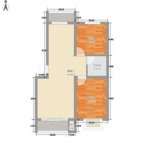 吴中印象2室1厅1卫0厨78.00㎡户型图
