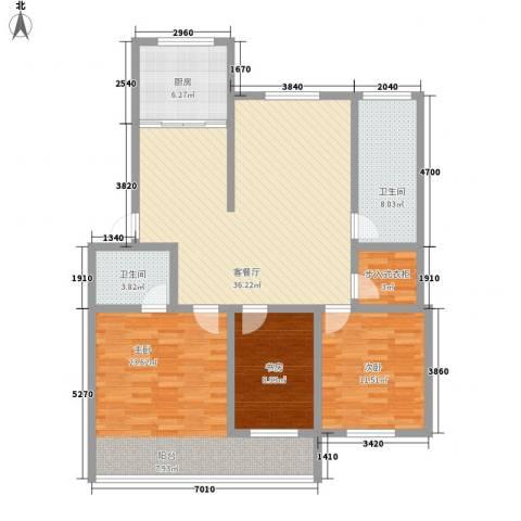 环翠家园3室1厅2卫1厨145.00㎡户型图