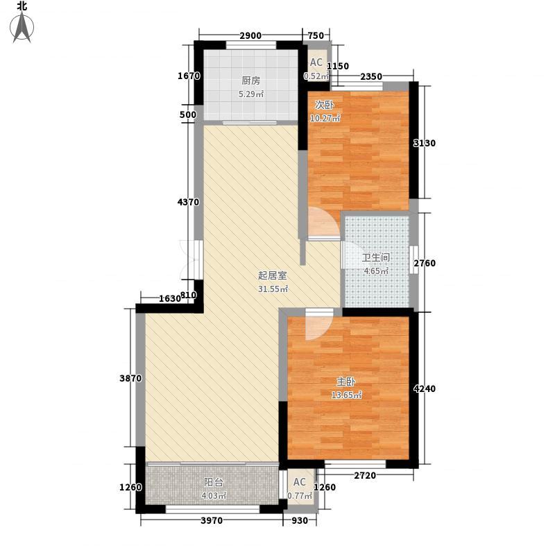 中房粹园8.00㎡A户型2室2厅1卫1厨