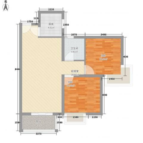 泰和御景豪庭2室0厅1卫1厨95.00㎡户型图