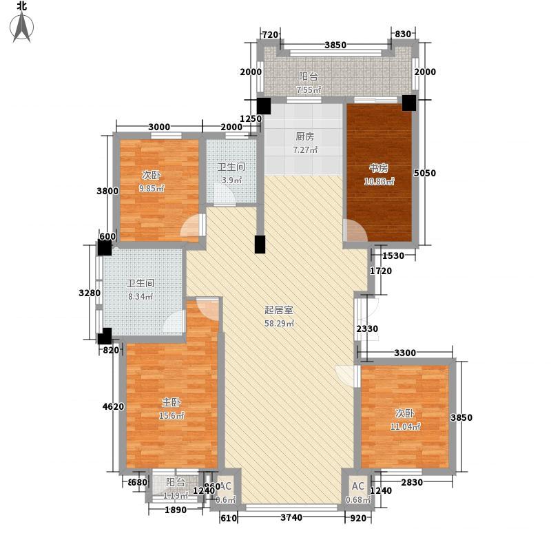 俪兹国际花园6#楼三单元标准户型