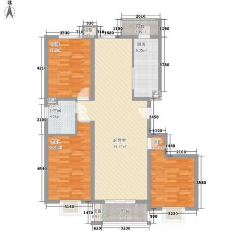 兰馨花园项目3室0厅1卫1厨126.00㎡户型图
