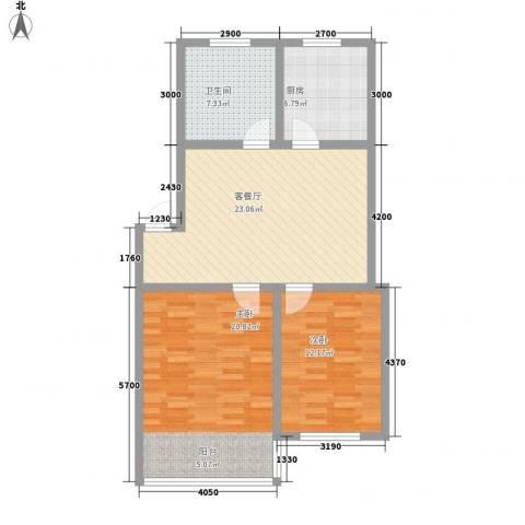 环翠家园2室1厅1卫1厨88.00㎡户型图