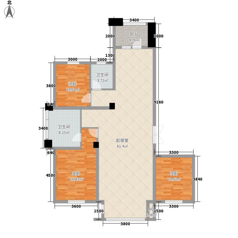 俪兹国际花园6#楼三单元首层户型