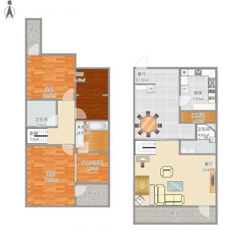 美树假日嘉园3室2厅2卫1厨167.00㎡户型图