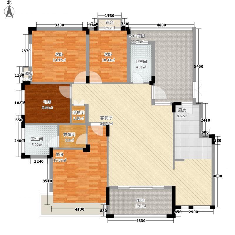 黔灵半山169.10㎡4C户型4室2厅2卫1厨