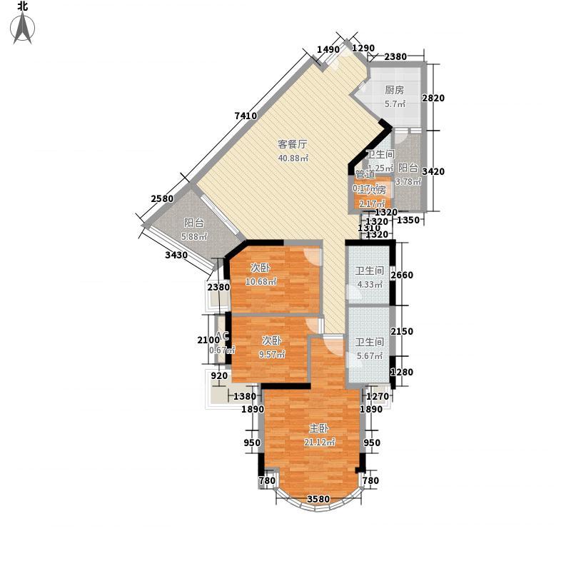 利雅湾151.98㎡利雅湾户型图3房2厅户型图3室2厅户型3室2厅