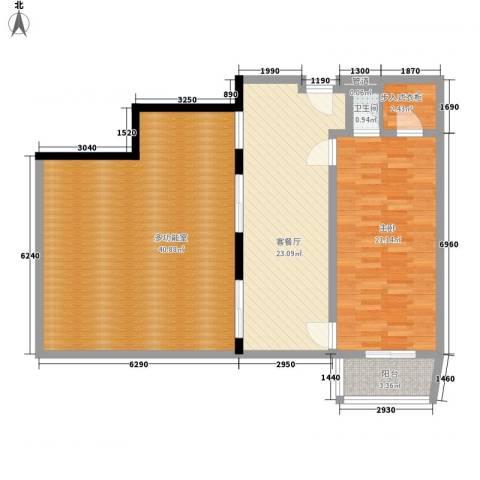 克拉码头1室1厅1卫0厨129.00㎡户型图