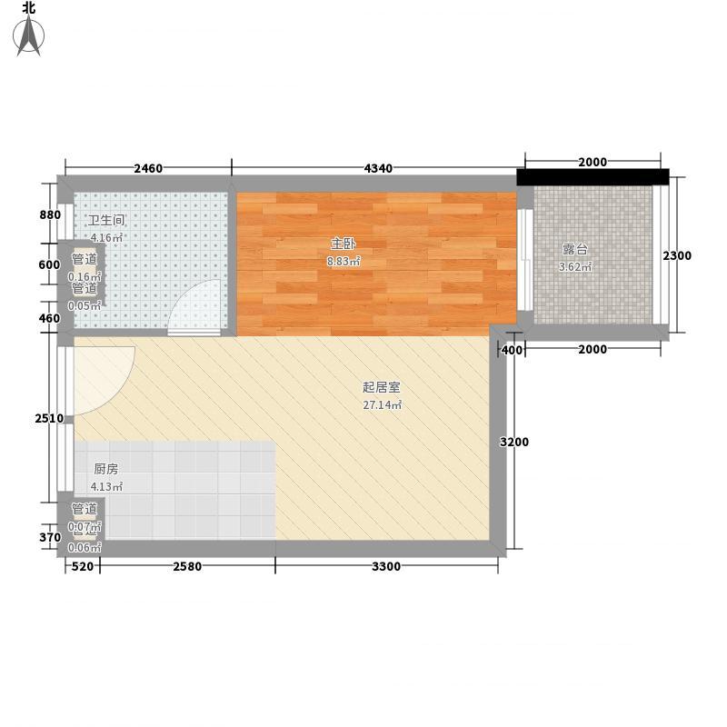 珊瑚海公寓A7户型1室1厅1卫1厨