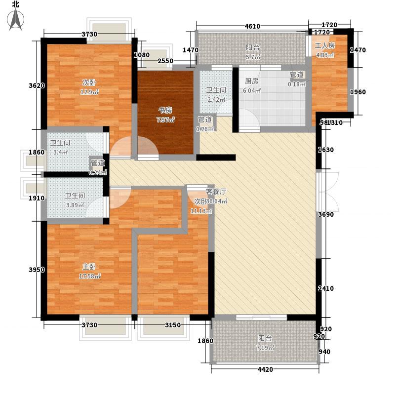城市领地175.00㎡城市领地户型图D1户型4室2厅3卫1厨户型4室2厅3卫1厨