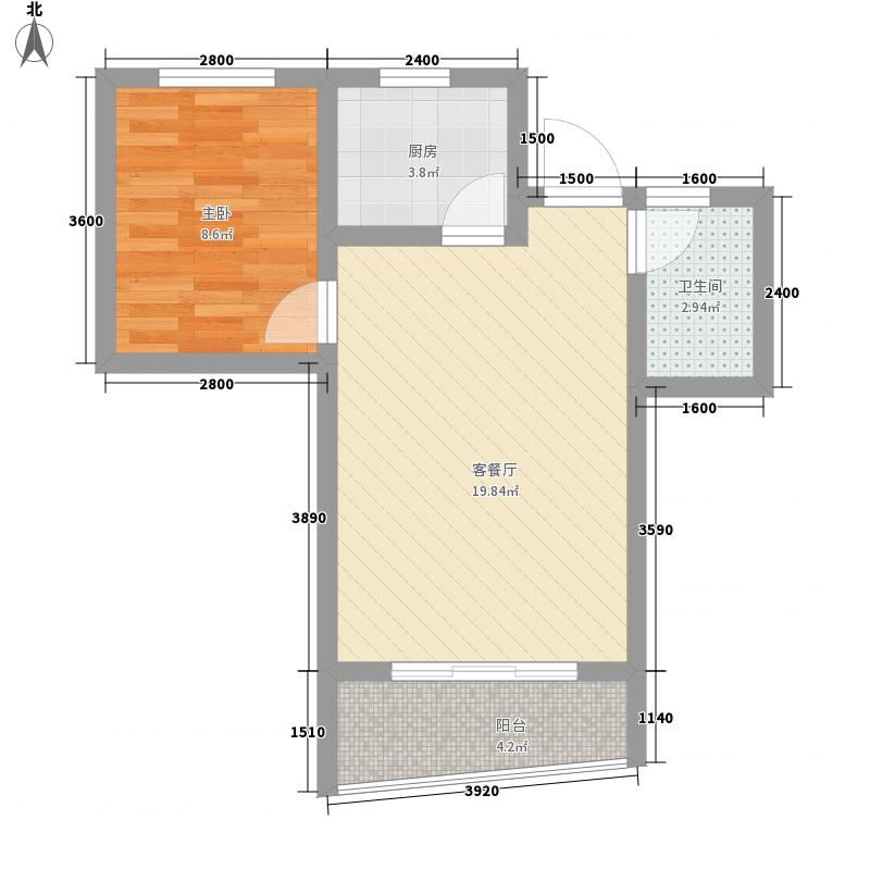 山水兰庭52.66㎡山水兰庭户型图08+1偶数层户型图1室2厅1卫1厨户型1室2厅1卫1厨