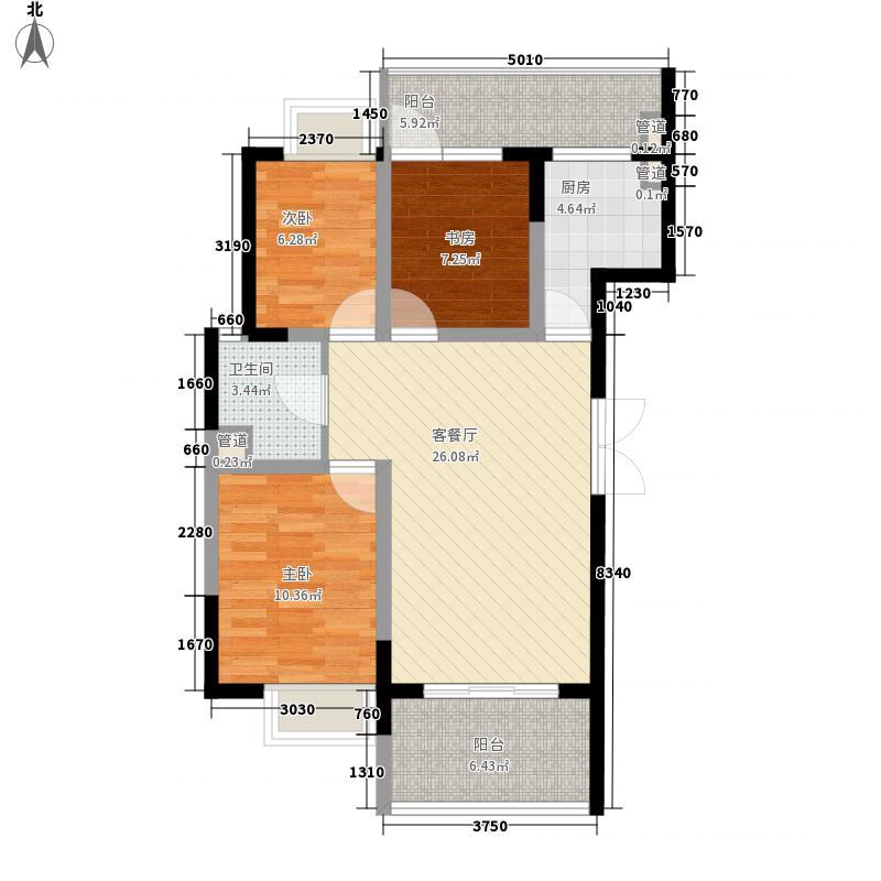 城市领地100.00㎡城市领地3室户型3室