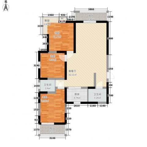 苏格兰风笛3室1厅2卫1厨116.00㎡户型图