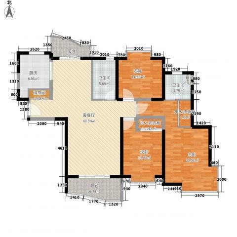 虹叶茗园3室1厅2卫1厨170.00㎡户型图