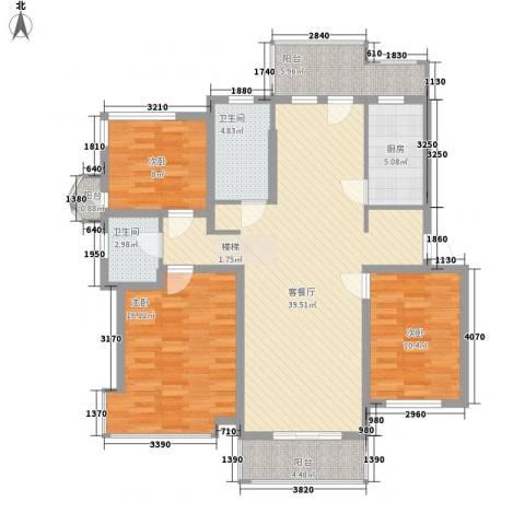 富弘苑3室1厅2卫1厨139.00㎡户型图