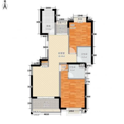 南方城2室0厅2卫1厨107.00㎡户型图
