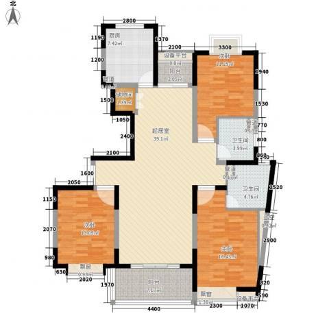 南方城3室0厅2卫1厨140.00㎡户型图