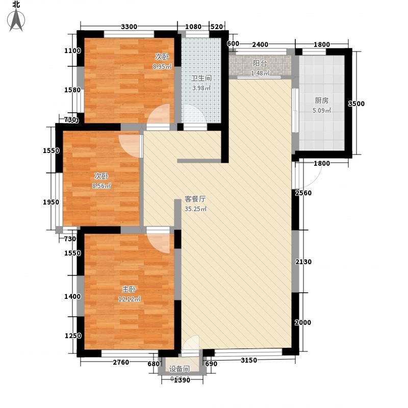 盛景丽苑111.81㎡D户型3室2厅1卫1厨