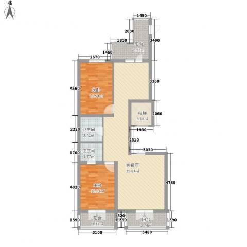 金京赛丽斯2室1厅2卫0厨81.50㎡户型图