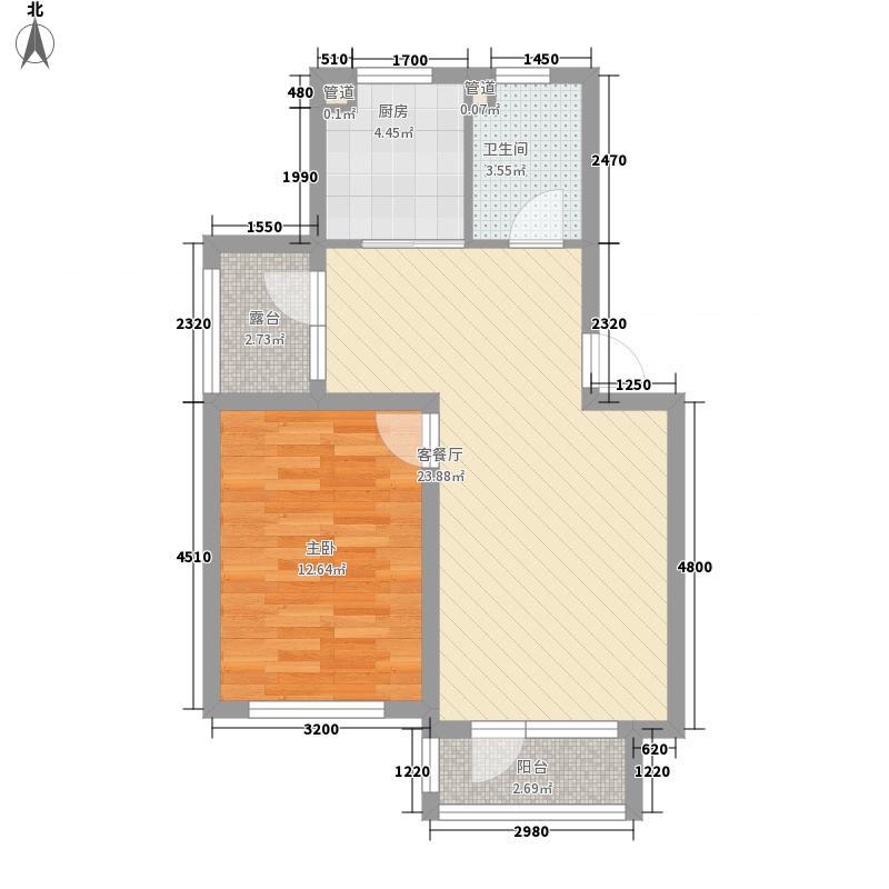 绿地国际花都62.02㎡绿地国际花都户型图C户型1室2厅1卫1厨户型1室2厅1卫1厨