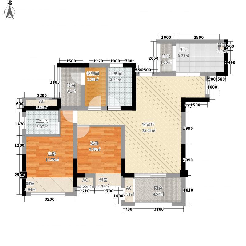 首创城一期1/2/5/9号楼标准层B1户型