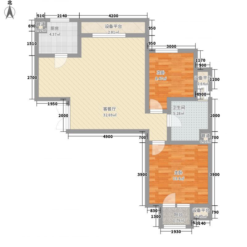 绿城百合公寓95.50㎡绿城百合公寓户型图2室1厅1卫1厨户型10室