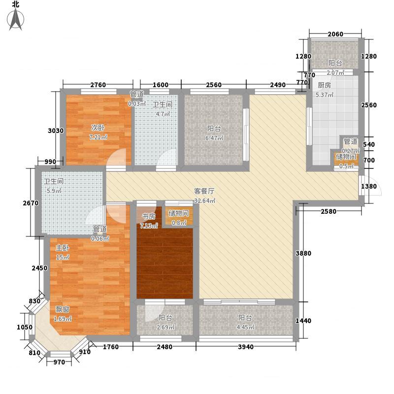 绿地国际花都141.59㎡绿地国际花都户型图户型图3室2厅2卫1厨户型3室2厅2卫1厨
