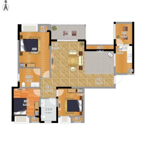 保利・康桥3室1厅2卫1厨138.00㎡户型图