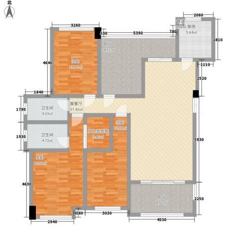 格兰小镇3室1厅2卫1厨121.56㎡户型图