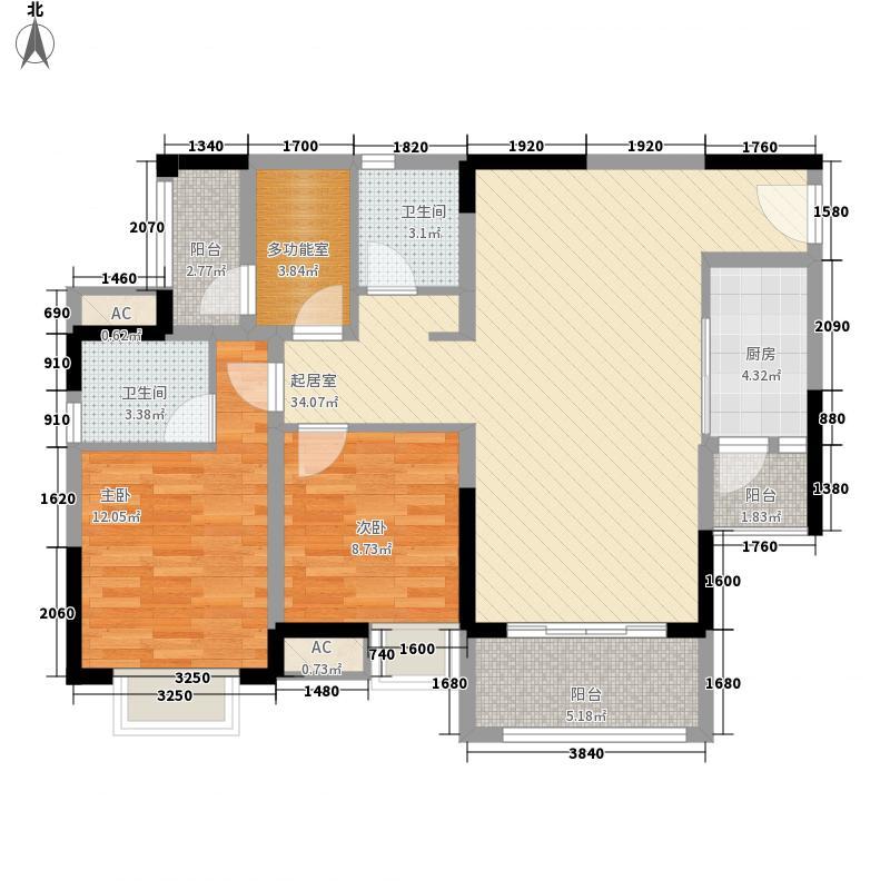 北大资源博雅81.81㎡一期高层8号楼标准层F户型