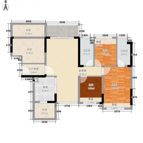 中央公馆蟠龙住宅3室0厅2卫1厨335.00㎡户型图