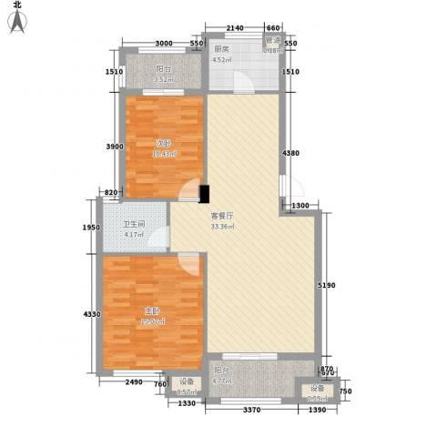 光华翠苑2室1厅1卫1厨77.17㎡户型图