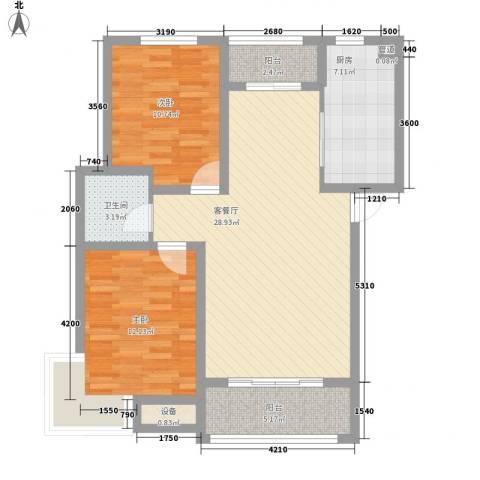 光华翠苑2室1厅1卫1厨102.00㎡户型图