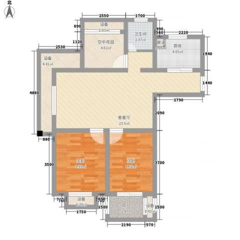 香梅人家2室1厅1卫1厨95.00㎡户型图
