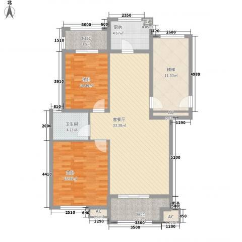 韩春园2室1厅1卫1厨89.79㎡户型图