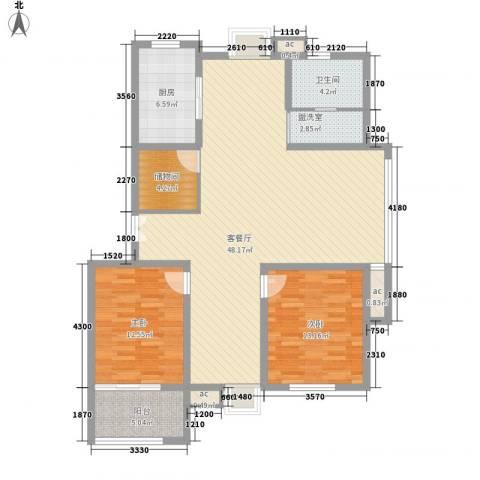 星盛家园2室1厅1卫1厨139.00㎡户型图