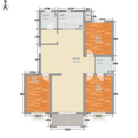 空港国际3室0厅2卫1厨135.00㎡户型图