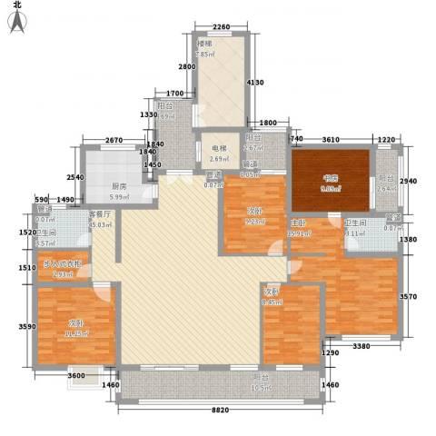 国信慧谷山居5室1厅2卫1厨211.00㎡户型图