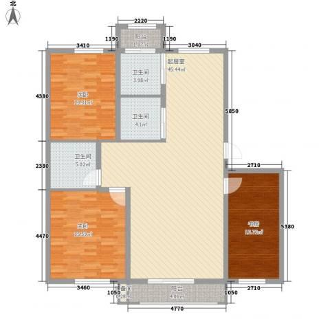 丰和林苑二期3室0厅3卫0厨150.00㎡户型图
