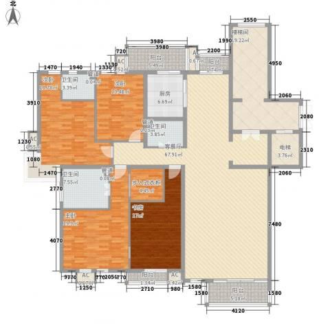 南亚花园别墅4室1厅3卫1厨288.00㎡户型图