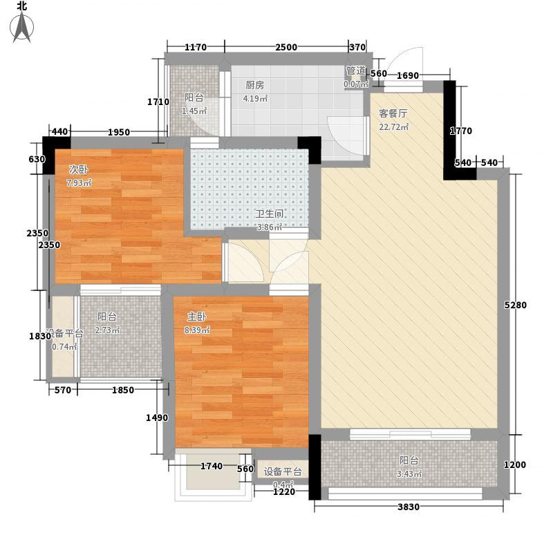 书香溪墅一期洋房所有楼栋标准层F1-A户型