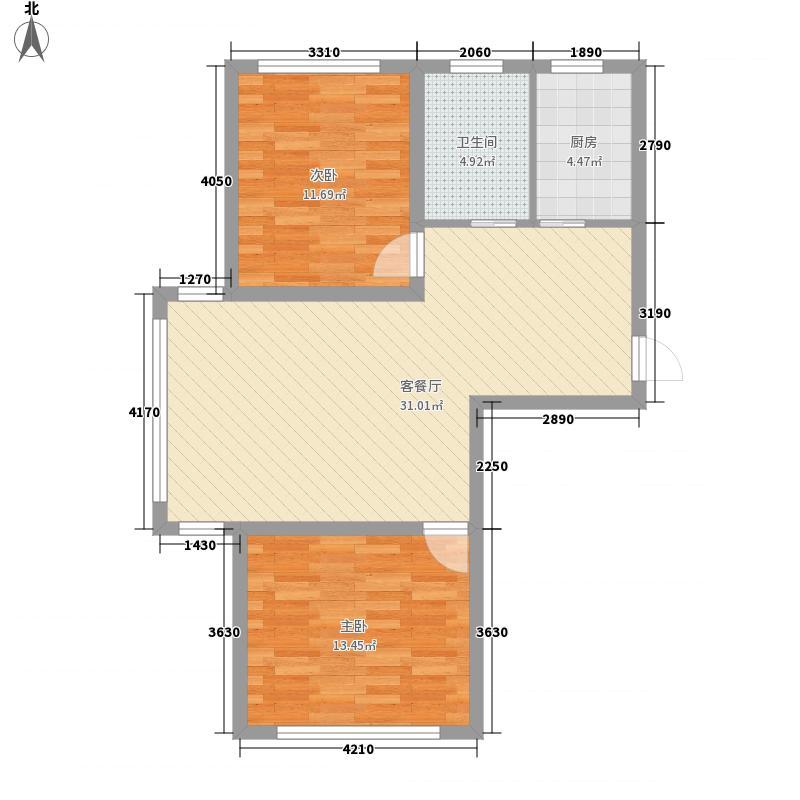 金地卡诗维亚87.19㎡4栋A1户型2室2厅1卫