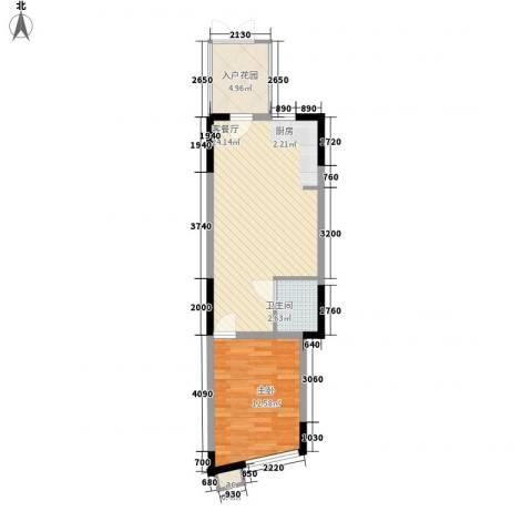 雪梨澳乡1室1厅1卫0厨44.72㎡户型图