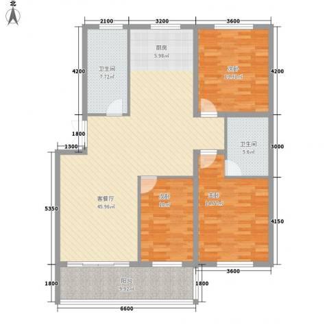 咸亨佳苑3室1厅2卫0厨114.00㎡户型图